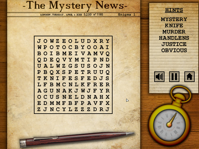 Mystery Words, new wordsearch game! - News - Shimiegames - Free ...